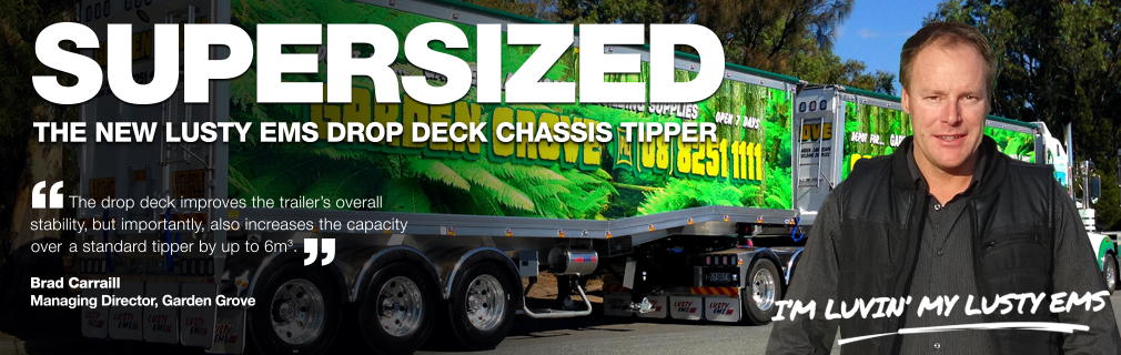 drop deck chassis tipper